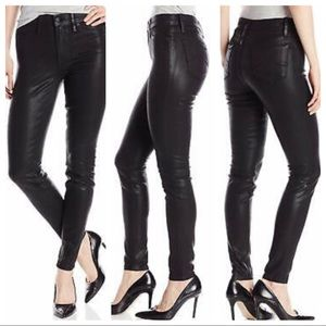Level 99 black leather coated skinny jeans, 2 / 26